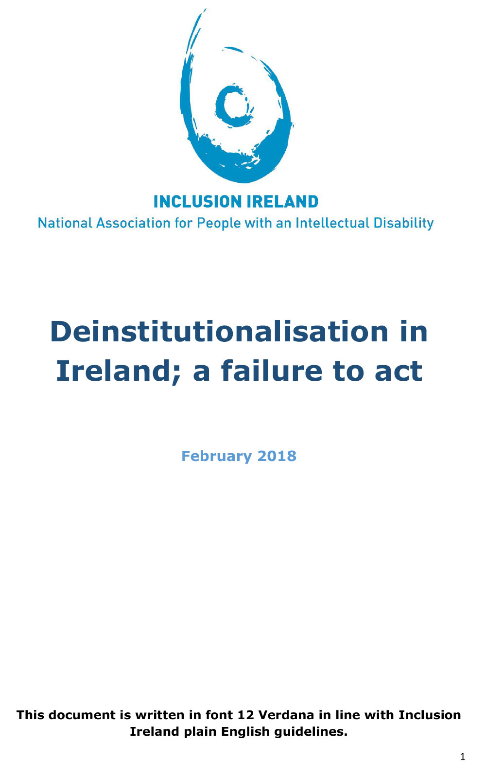Deinstitutionalisation in Ireland; a failure to act