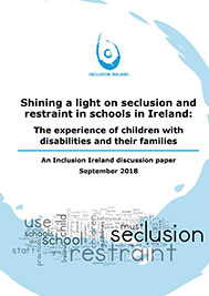 Shining a light on seclusion and restraint in schools in Ireland: The experience of children with disabilities..