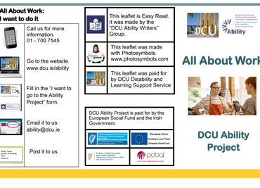 All about Work – DCU Ability Project Leaflet