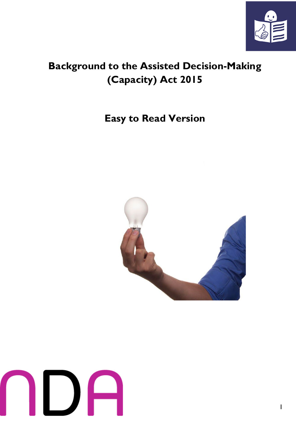 Background to the Assisted Decision-Making (Capacity) Act 2015