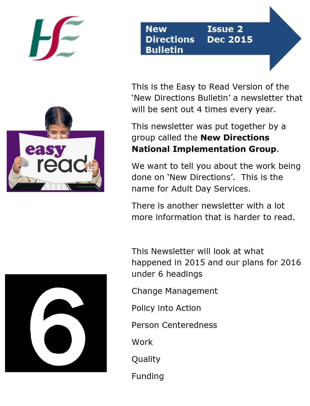 New Directions Bulletin December 2015