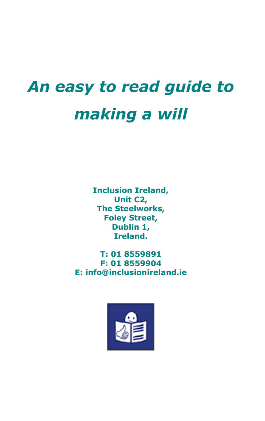 An Easy to Read Guide to Making a Will