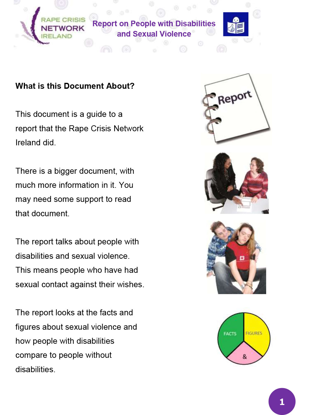 Guide to the Report on People with Disabilities and Sexual Violence