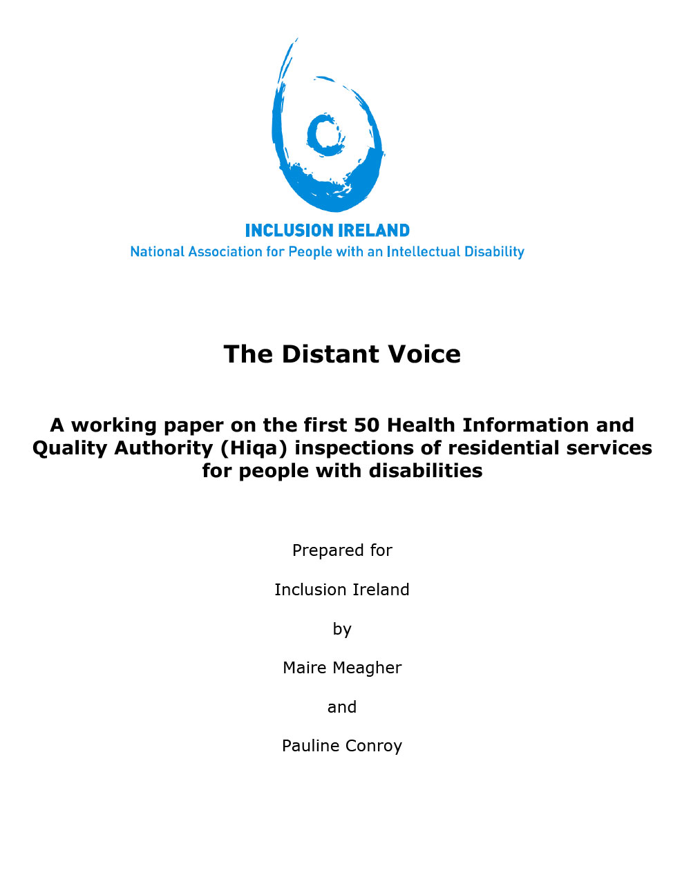 The Distant Voice – Analysis of HIQA Inspections