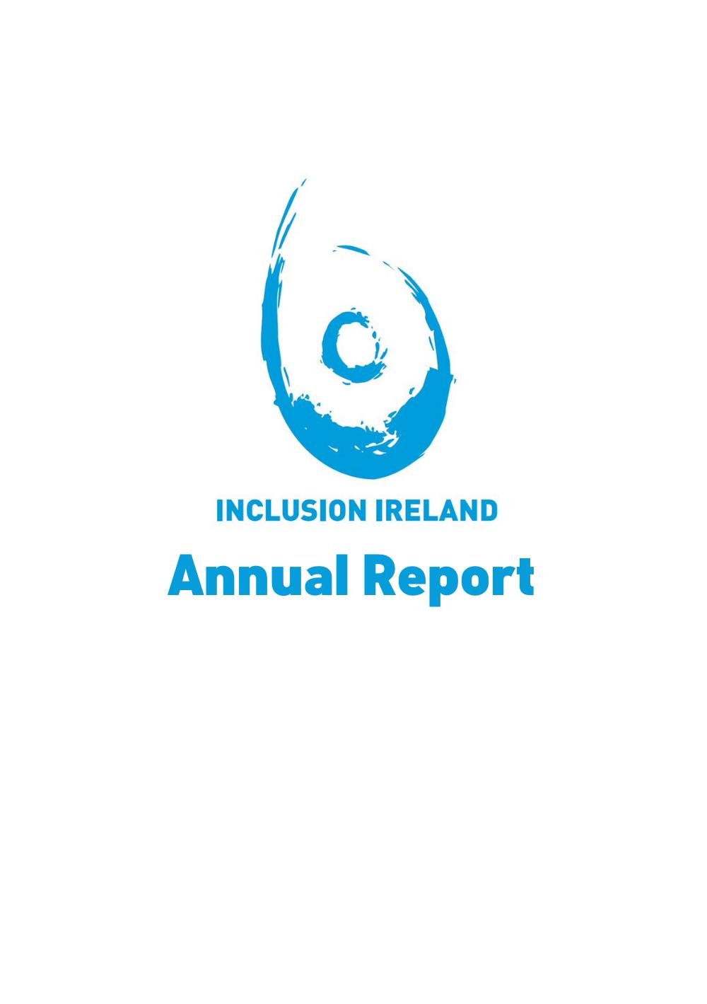 Inclusion Ireland Annual Report 2019