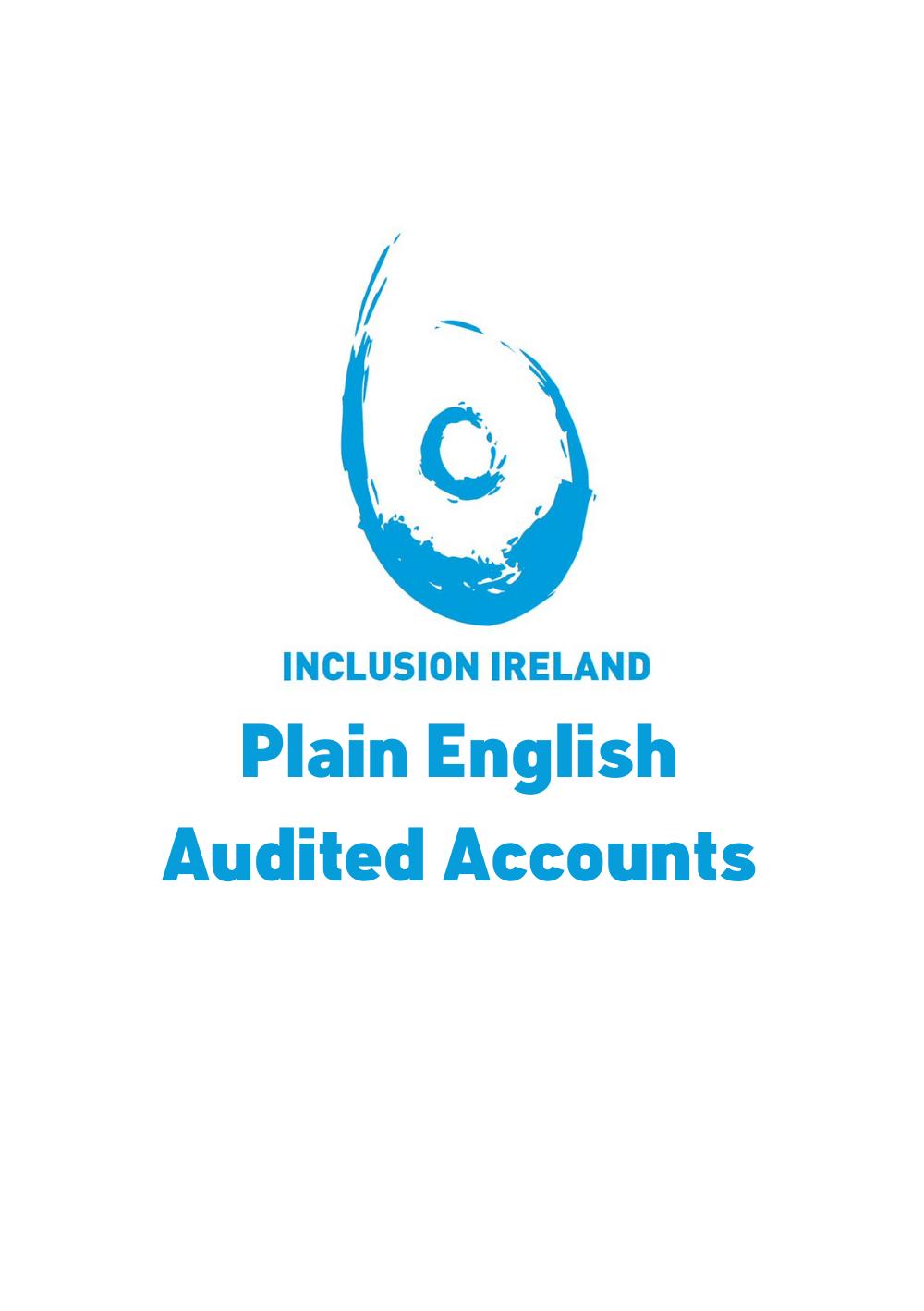Plain English Audited Accounts 2019